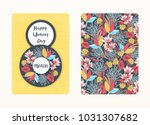 Stock vector  march happy women s day spring holiday card design with floral pattern creative hand drawn 1031307682