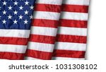 closeup ruffled american flag... | Shutterstock . vector #1031308102