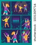 "set of cards ""dance  dance ...   Shutterstock .eps vector #1031309716"