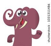 happy cartoon elephant... | Shutterstock .eps vector #1031311486