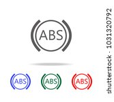 abs sign icon. elements in... | Shutterstock .eps vector #1031320792