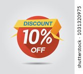 discount sale up to 10  off... | Shutterstock .eps vector #1031320975