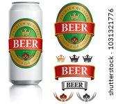 beer label vector visual on... | Shutterstock .eps vector #1031321776