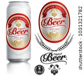 beer label vector visual on... | Shutterstock .eps vector #1031321782