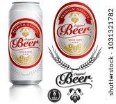 beer label vector visual on... | Shutterstock .eps vector #1031321782