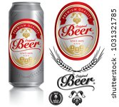 beer label vector visual on... | Shutterstock .eps vector #1031321785