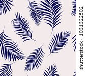 palm leaves pattern background... | Shutterstock .eps vector #1031322502
