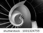 black and white stairway | Shutterstock . vector #1031324755
