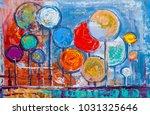 oil painting landscape ...   Shutterstock . vector #1031325646