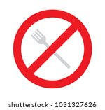 sign of no used fork  dont get... | Shutterstock .eps vector #1031327626