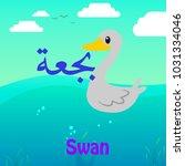 arabic language word alphabet... | Shutterstock .eps vector #1031334046