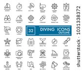 web icon set. summer  sea... | Shutterstock .eps vector #1031338372