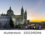 sunset view of almudena... | Shutterstock . vector #1031340346