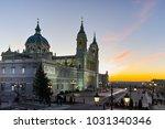 sunset view of almudena... | Shutterstock . vector #1031340346