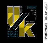 uk united kingdom cool awesome... | Shutterstock .eps vector #1031342818