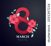 happy mother's day poster.3d... | Shutterstock .eps vector #1031347216