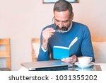 senior man having troubles... | Shutterstock . vector #1031355202