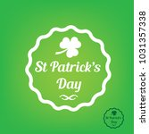 happy saint patrick's day  flat ... | Shutterstock .eps vector #1031357338