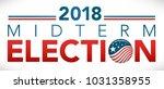 election header banner w  vote    Shutterstock .eps vector #1031358955