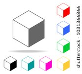 cube icon. elements in multi... | Shutterstock .eps vector #1031366866
