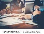 corporate meetings  business... | Shutterstock . vector #1031368738