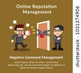 online reputation management... | Shutterstock .eps vector #1031374906