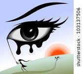 eye in the sky. surreal image.... | Shutterstock .eps vector #103137506