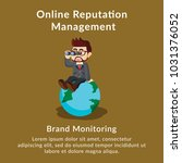 online reputation management... | Shutterstock .eps vector #1031376052