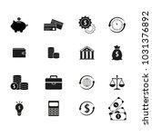 set finance money black icons   Shutterstock .eps vector #1031376892