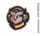owl music e sport logo | Shutterstock .eps vector #1031380516