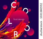 fluid shapes design. smear... | Shutterstock .eps vector #1031380552