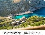 beautiful turquoise bay... | Shutterstock . vector #1031381902