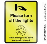 yellow turn off lights public... | Shutterstock .eps vector #1031385148