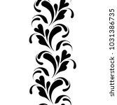 outline floral seamless pattern.... | Shutterstock .eps vector #1031386735