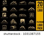 real estate logo set  creative... | Shutterstock .eps vector #1031387155