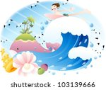 exciting summer vacation and... | Shutterstock .eps vector #103139666