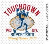 american football logo design... | Shutterstock .eps vector #1031409496