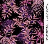 dark tropical seamless pattern...   Shutterstock .eps vector #1031410942