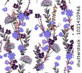 wild meadow flower seamless... | Shutterstock .eps vector #1031410966