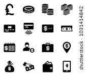solid vector icon set   pound...   Shutterstock .eps vector #1031414842