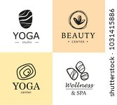 vector collection of yoga ...   Shutterstock .eps vector #1031415886