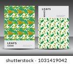 leaf pattern background for...   Shutterstock .eps vector #1031419042