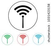 wi fi logo  radio waves logo | Shutterstock .eps vector #1031423158