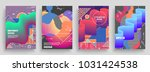 artistic covers design.... | Shutterstock .eps vector #1031424538