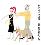 Zombie Couple With Dog
