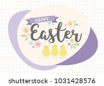 happy easter greeting card with ... | Shutterstock .eps vector #1031428576