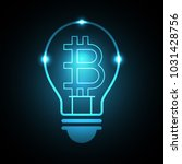 bitcoin with light bulb  money...   Shutterstock .eps vector #1031428756