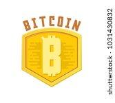 bitcoin bage. digital money....   Shutterstock .eps vector #1031430832