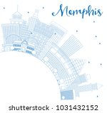 outline memphis usa city... | Shutterstock . vector #1031432152