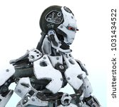 3d cg rendering of a robot | Shutterstock . vector #1031434522